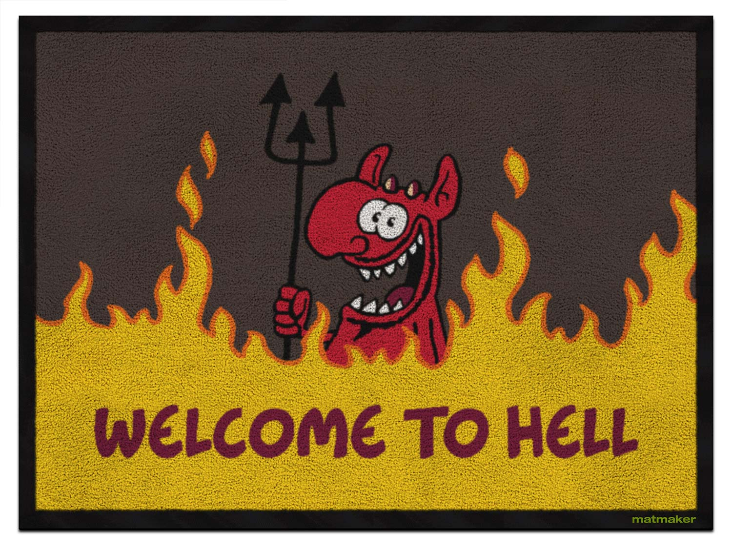 """Fußmatte """"Welcome to Hell"""""""
